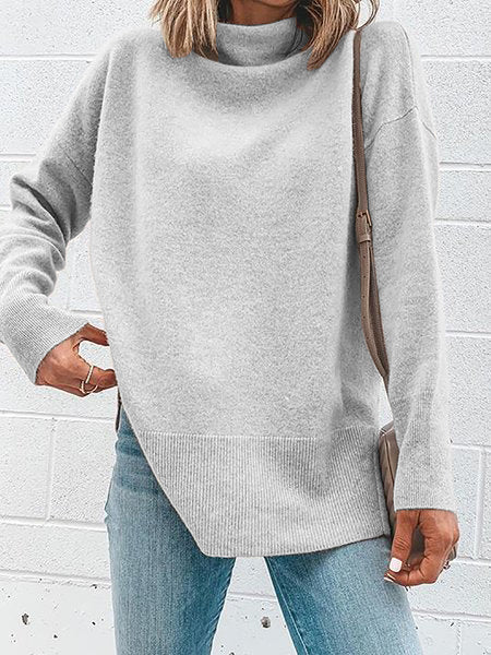 Turtleneck Long Sleeve Knitted Sweaters