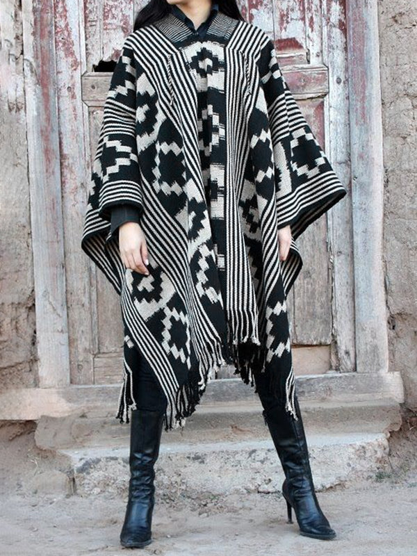 Casual Tribal A-Line Outerwear