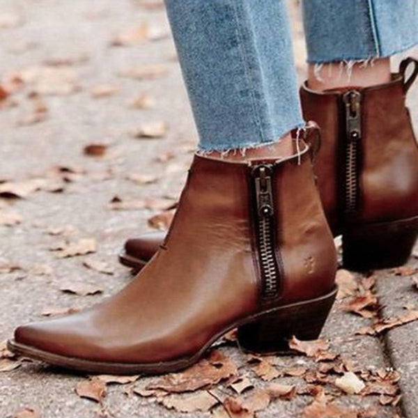 Spring Daily Low Heel Pu Boots