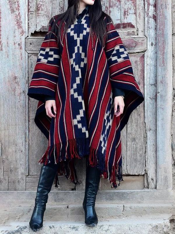 Tribal Holiday Wool Blend Outerwear
