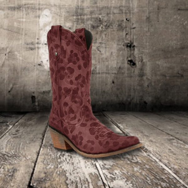 Brown Spring Suede Daily Low Heel Boots