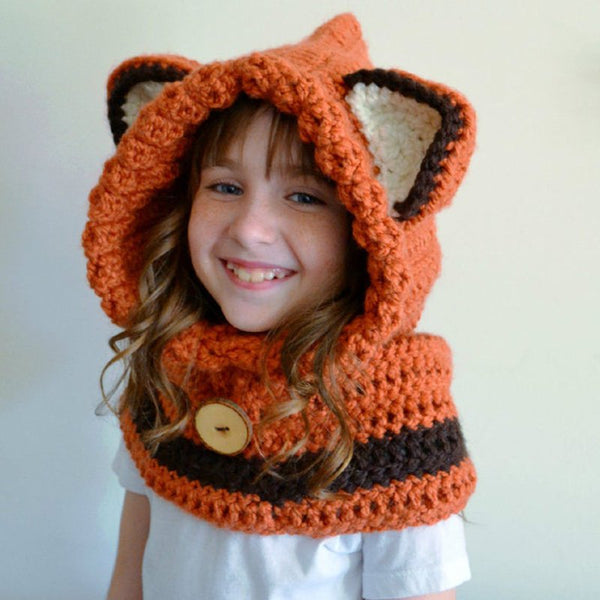 Orange Animal Print Unisex Sweet Hats