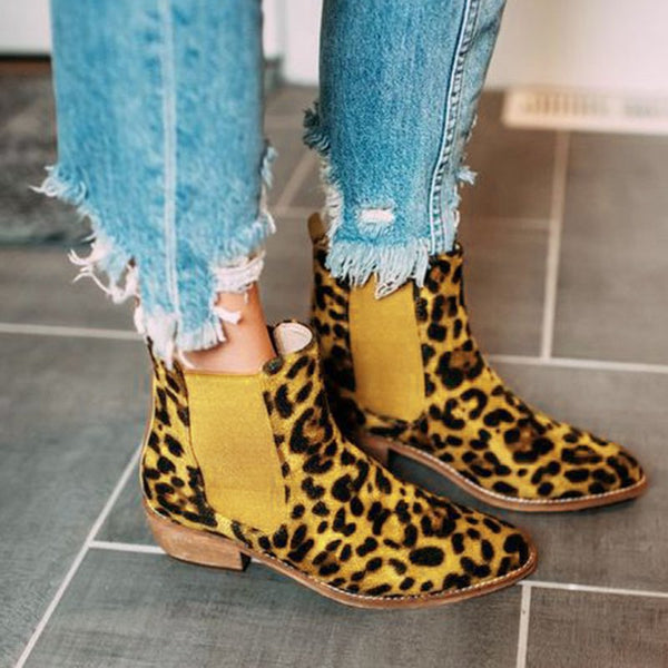 Winter Low Heel Suede Boots
