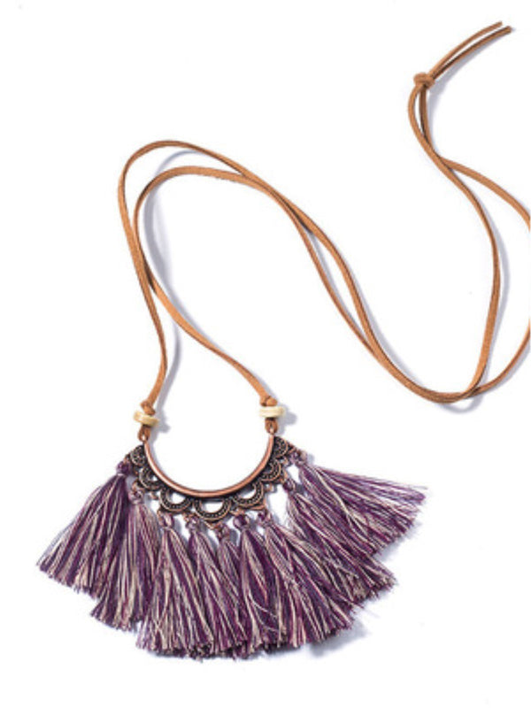 Vintage Fringed Women All Season Necklace