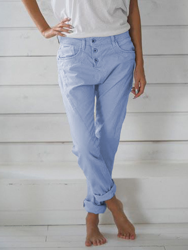 Casual Solid Women Pants