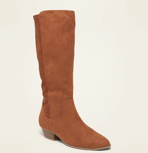 Tall Faux-Suede Western Boots for Women