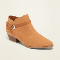 Faux-Suede Ankle-Strap Boots for Women