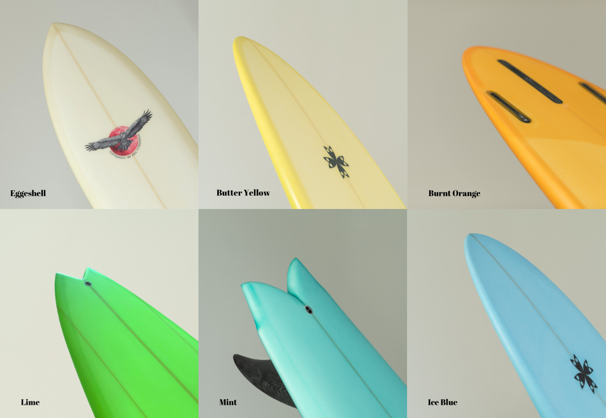Joel Fitzgerald Surfboards Colours and Resin Tints