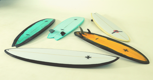 Joel Fitzgerald Surfboards Mid-Lengths, Single Fins and Twin Fins