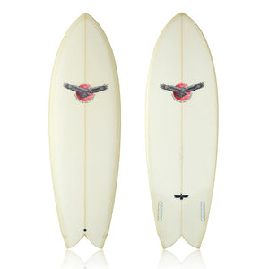 6'1 Keel Fin Fish Surfboard