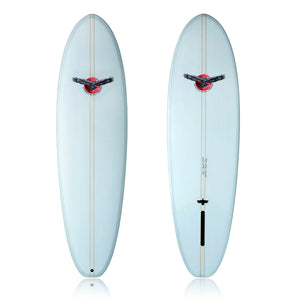 6'8 Mid-Length Hull Single Fin