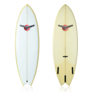 Space Hawk Twin Fin + Rear Stabiliser