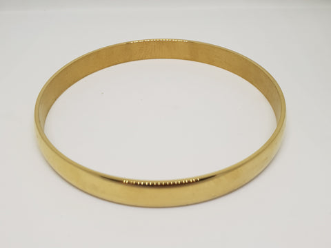 Wide Stainless Steel Gold  Bangle