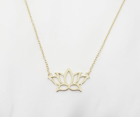 Sterling Silver Gold Plated Lotus Necklet