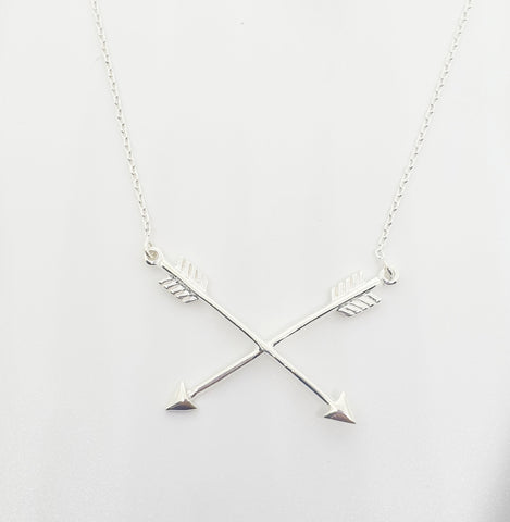 Silver Strength Arrow Necklace