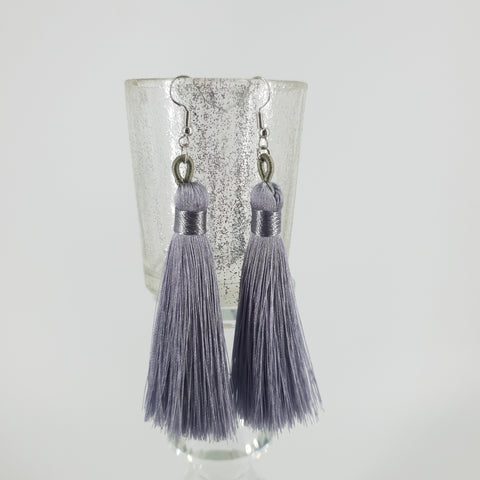 Silver Tassel  Earrings- Fashion Jewellery