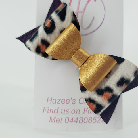 Leopard Bow on Clip