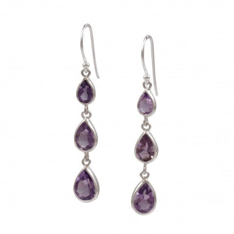 Gemstone  Triple Dangles- Multiple Options