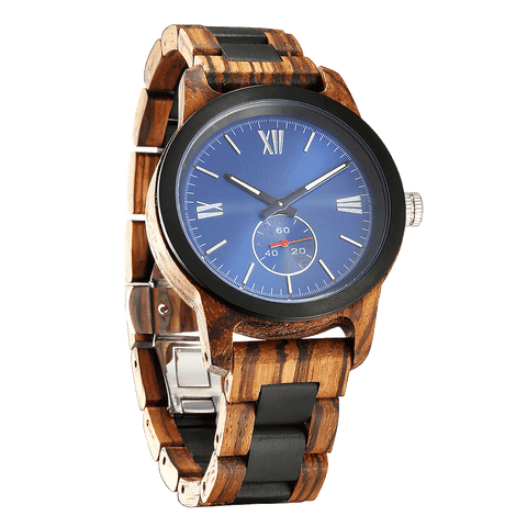 Handcrafted Zebra Ebony Wood Watch - Best Gift Idea!