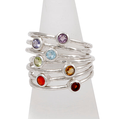 Set of Chakra Rings - Sheer Envy