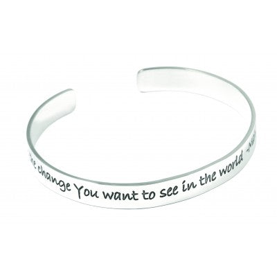 Sterling Silver  Quote Bangle - Sheer Envy
