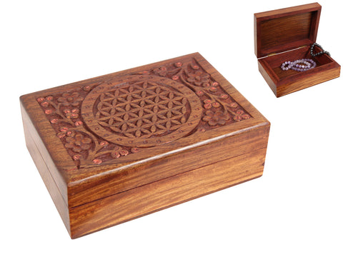 Flower of Life Carved Box