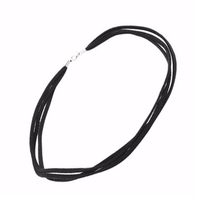 3 Strand Leatherette Necklace - Sheer Envy