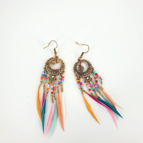 Dreamcatcher Feather Earrings- Fashion Jewellery