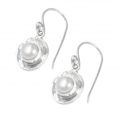 Hammered Pearl Set Earrings