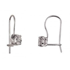 Cubic Zirconia Eurowire Sterling Silver