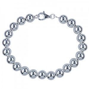 Sterling Silver Italian Bead Ball Bracelet - Sheer Envy