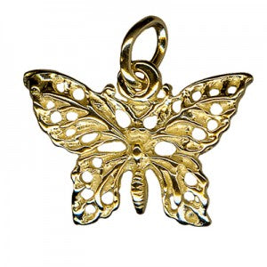 Butterfly Charm, Ss, 9Y, 9P