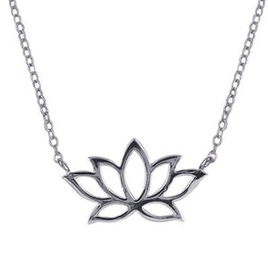 Sterling Silver Lotus Necklace - Sheer Envy