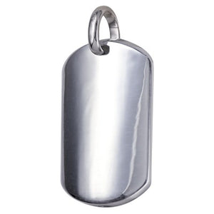 Sterling Silver Dog Tag Pendant - Sheer Envy