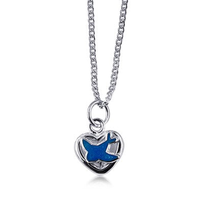 Sterling Silver Bluebird Pendant - Sheer Envy