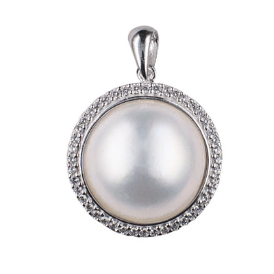 Sterling Silver Mabe Pearl Pendant - Sheer Envy