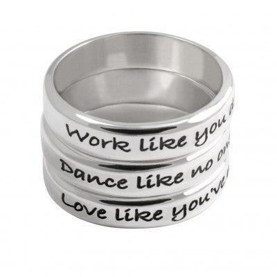 Three in One Quote Ring - Sheer Envy