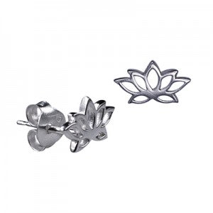 Sterling Silver Lotus Studs - Sheer Envy