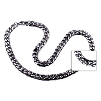 55 cm Stainless Steel Bevelled Curb Chain - Sheer Envy