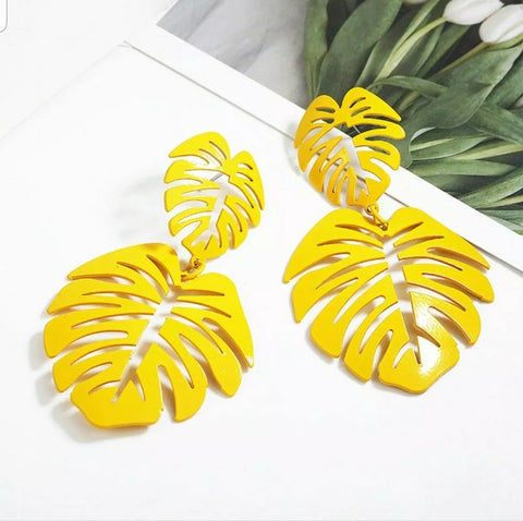 Yellow Monstera Dangles