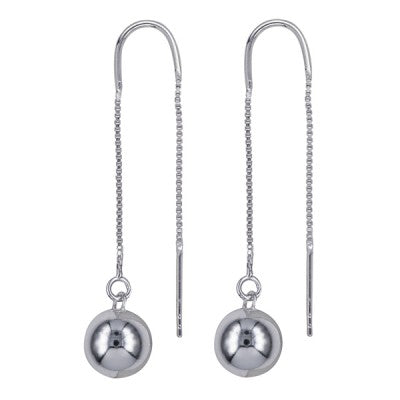 Sterling Silver Ball style Thread earrings. These earrings are perfectly understated and will compliment any outfit. Afterpay available