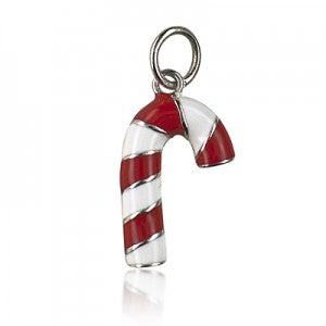 Sterling Silver Candy Cane Pendant/ Charm