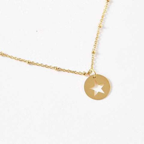 Star Ball Chain Necklace