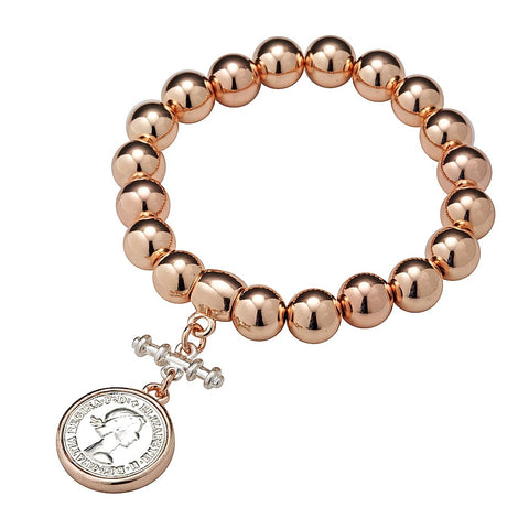 Allure Chunky Ball  Bracelet with Coin