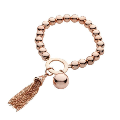 Allure Chunky Ball Bracelet  with Tassel