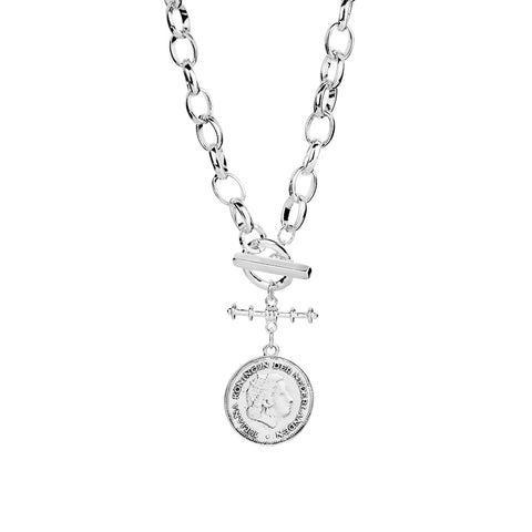 Allure Belcher Necklace with Toggle and Coin