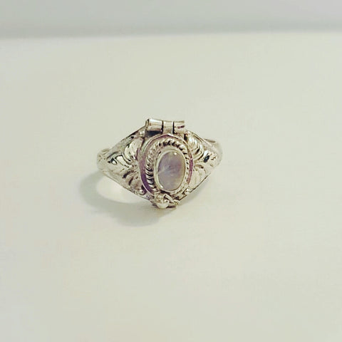 Moonstone Locket Ring