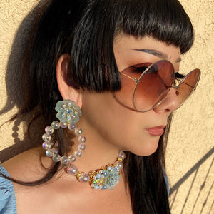 Azul Oceana Ethereal XL bubble statement hoops