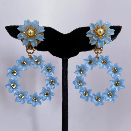 Azul Amor mini hoops lightweight with Swarovski crystals
