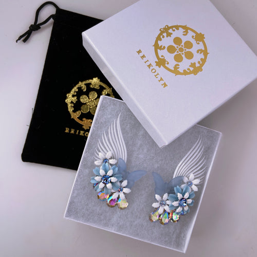 Azul Amor butterflies and Daisy climber earrings